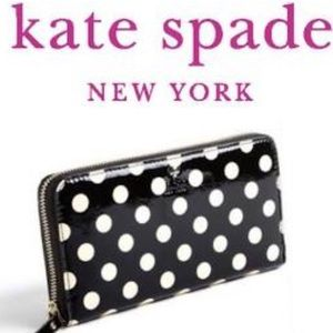 Kate spade polka dot wallet patent leather